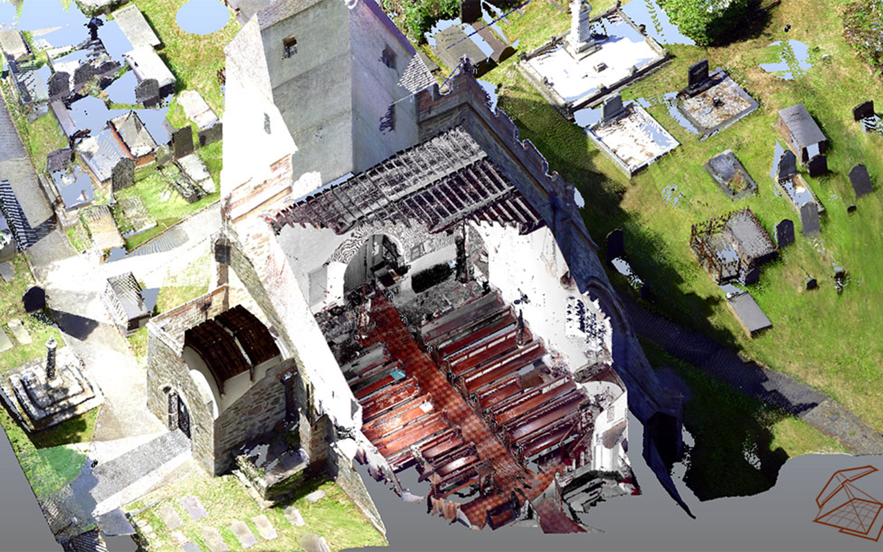 Llaneilian Church Laser scan & Survey