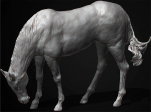 3d digital horse sculpt